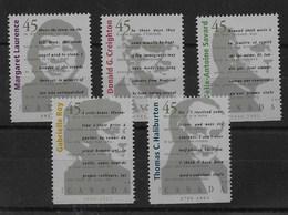Serie De Canadá Nº Yvert 1488/92 ** - 1952-.... Reinado De Elizabeth II