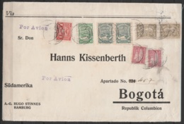 Colombie - L. Affr. SCADTA Càd BARANQUILLA/30.III.1925 Pour BOGOTA - Certificat Sergio Sismondo (SCADTA = Sociedad Colom - Colombie