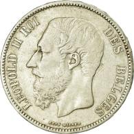 Monnaie, Belgique, Leopold II, 5 Francs, 5 Frank, 1867, Point Après F, TB+ - 09. 5 Francs