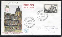 FDC 1957 - 1099  Château D'UZÊS - FDC