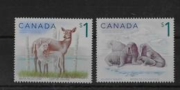 Serie De Canadá Nº Yvert 2182/83 ** FAUNA (ANIMALS) - 1952-.... Reinado De Elizabeth II