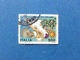 1997 ITALIA FRANCOBOLLO USATO STAMP USED LAVORO ITALIANO DA 900 - 6. 1946-.. Repubblica