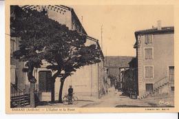 07- Sarras  L Eglise Et La Poste - Other Municipalities