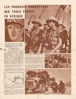 Tract De 39-45, Les Français Combattent En Afrique, Cyrénaïque, Soudan, Libye, 1941, Spahis, Marsouins, WWII Leaflet - Historische Documenten