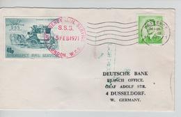 SJ194/ TP 1068B Baudouin Lunettes + Vignette Anglaise (grève 1971) S/L.c.Oostende & London > Allemagne - Belgium