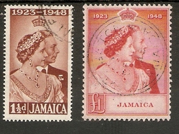 JAMAICA 1948 SILVER WEDDING SET FINE USED Cat £75+ - Jamaica (...-1961)