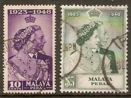 MALAYA - PERAK 1948 SILVER WEDDING SET FINE USED Cat £50+ - Perak