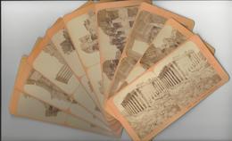 LIBAN Lebanon 10 STEREOS BAALBECK BAALBEK PHOTO STEREO CIRCA 1870 /FREE SHIPPING REGISTERED - Stereoscoop