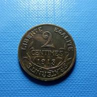 France 2 Centimes 1913 - Frankreich