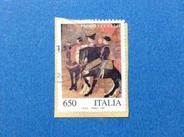 1997 ITALIA FRANCOBOLLO USATO STAMP USED PATRIMONIO ARTISTICO E CULTURALE PAOLO UCCELLO - - 6. 1946-.. Repubblica