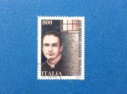 1997 ITALIA FRANCOBOLLO USATO STAMP USED DON GIUSEPPE MOROSINI - - 6. 1946-.. Repubblica