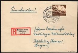 Germany - Eischreiben Brief (Mi. 815 EF) Mit SST. Das Braune Band Von Deutschland, München Riem 26.7.1942. - Germania