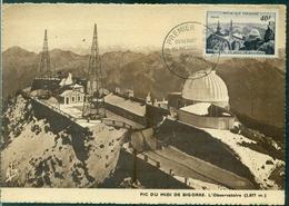 FRANCE Carte Maximum N° 916 Pic Du Midi Ob. FDC 22.12.1951 Ref. D1 TB Cote : 45 €. - Maximumkarten