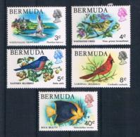 Bermuda 1978 Tiere Mi.Nr. 352/53/54/56/63 ** - Bermuda