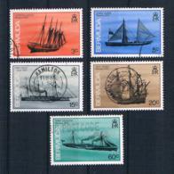 Bermuda 1986 Schiffe Kleines Lot 5 Werte Gestempelt - Bermuda