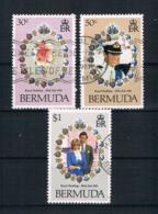 Bermuda 1981 Diana/Carles Mi.Nr. 401/03 Kpl. Satz Gestempelt - Bermuda