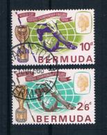 Bermuda 1966 Fußball Mi.Nr. 194/95 Kpl. Satz Gestempelt - Bermuda