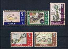 Bermuda 1979 Landkarte Mi.Nr. 369/73 Kpl. Satz Gestempelt - Bermuda