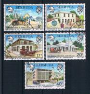Bermuda 1977 Gebäude Mi.Nr. 339/43 Kpl. Satz Gestempelt - Bermuda