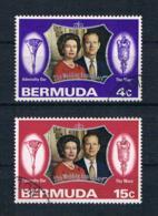 Bermuda 1972 Königin Mi.Nr. 285/86 Kpl. Satz Gestempelt - Bermuda