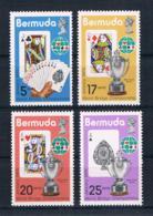 Bermuda 1975 Kartenspiel Mi.Nr. 301/04 Kpl. Satz ** - Bermuda