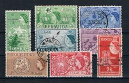 Bermuda 1953 Kleines Lot 8 Werte Gestempelt - Bermuda