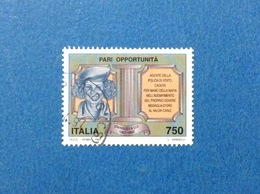 1997 ITALIA FRANCOBOLLO USATO STAMP USED PARI OPPORTUNITÀ EMANUELA LOI - 6. 1946-.. Repubblica