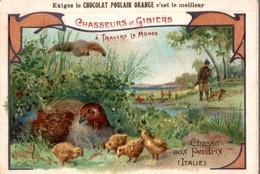 CHOCOLAT POULAIN ORANGE - CHASSEURS ET GIBIERS - CHASSE AUX PERDRIX (Italie) - Poulain