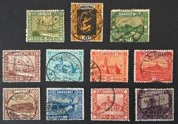 1922 Heimische Bilder In Größerem Format Mi. 84, 85b, 86, 87, 88, 89, 90, 91, 92 - 1920-35 Société Des Nations