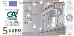 SPÉCIMEN BILLET DE 5 EUROS FACTICE OFFERT PAR LE CACE - Specimen