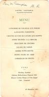 Menu De L'Hôtel Victoria, Bagnères De Bigorre, 1957, Langouste, Foie De Canard, Dinde Truffée, Riesling J, Pomerol, Mumm - Menu