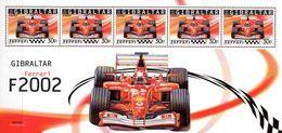 Gibraltar  Block 2002 Formel 1 Ferrari **/MNH - Automobilismo