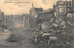 Rue De Namur Les Ruines 1914 Leuven Louvain - Leuven