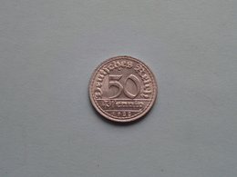 1922 D - 50 Pfennig ( KM ..) Uncleaned ! - 50 Rentenpfennig & 50 Reichspfennig