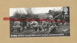 GB Cover To France With Post Red Striped Stamp D DAY British Troops Take Cover WW II  Troupe Anglaise GUERRE MONDIALE - Otros