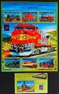 Guinee 2001**Mi.3115-20 + Bl.651  Trains , MNH  [10;27,128] - Eisenbahnen