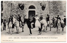 BOUCHES Du RHONE - Dépt N° 13 = ARLES = CPA NEUVE Animée Edition GILETTA N° 3090 = Cavalcade De Mireille - Arles