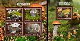 Sierra Leone 2019, Mushrooms, 4val In BF +BF - Hongos