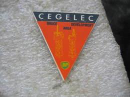 Pin's N° 18/300, CEGELEC, Bruce Aéra Development. Embleme Compagnie Pétroliere BP - EDF GDF