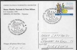 ANNULLO SPECIALE - TOLENTINO (MC) - MOSTRA FILATELICA II GUERRA MONDIALE - ABBADIA DI FIASTRA - 08.09.1993 - Philatelic Exhibitions