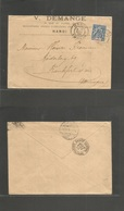 INDOCHINA. 1903 (17 Nov) Hanoi - Germany, Frankfurt (25 Dec) Fkd Comercial Envelope. - Stamps