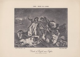 Eugéne Delacroix, Dante Et Virgile Aux Enfers. - Photographie