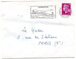 BOUCHES Du RHONE - Dépt N° 13 = AUBAGNE 1968 = FLAMME Codée = SECAP Illustrée ' PORTE Vallée HUVEAUME ' - Oblitérations Mécaniques (flammes)