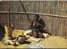 BECHUNALAND BOTSWANA FEMME JOUANT DE L'ARC MUSICAL TIMBRES-POSTE  PUBLICITÉ AMORA - Botswana