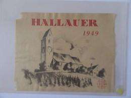 Suisse - Vieille étiquette De Vin Hallauer 1949 - Etiquettes