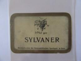 Autriche - Vieille étiquette De Vin SYLVANER 1946 - Styrie, Graz - Etiquettes