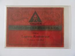 Autriche - Vieille étiquette De Vin Lagrein Kretzer Rot - Cépage Italien - 1940 - Wien-Mauer - Keidel Und Schrauth & Co - Etiquetas