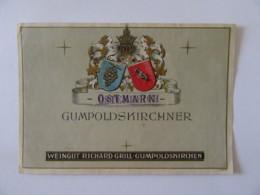 Autriche - Vieille étiquette De Vin Gumpoldskirchner - Gumpoldskirchen - Contremarque Osterreich - Après-guerre - Etiquettes