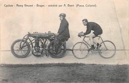 Cycliste Remy Vincent Entrainé Par A. Baert Pneus Colonial Bruges Brugge - Brugge