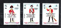 Grenada   -  1972.  Uniformi Con Sovrastampa Olimpica. Uniforms With Olympic Overprinting.Complete MNH Set - Inverno1972: Sapporo